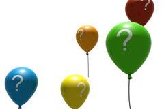 Ballons met vraag-teken symbolen stock illustratie