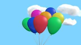 Ballons met wolken Royalty-vrije Stock Afbeeldingen