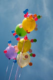 Ballons multicolores Photos libres de droits