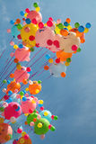 Ballons multicolores Photos stock