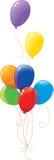 Ballons multicolores d'arc-en-ciel Photo libre de droits
