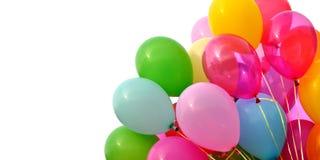 Ballons multicolores, d'isolement sur le blanc image libre de droits