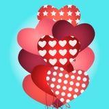 Ballons na forma de um coração Imagem de Stock Royalty Free