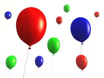 Ballons - nam Zonsondergang toe Stock Foto's