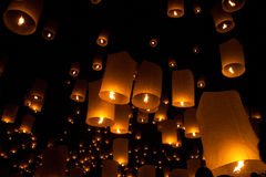 Ballons in the night Royalty Free Stock Photos
