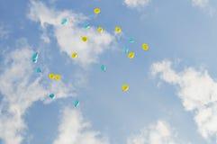 Ballons no céu Fotos de Stock Royalty Free