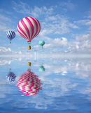 Ballons no céu Foto de Stock Royalty Free