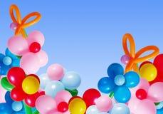Ballons no céu do fundo Imagem de Stock