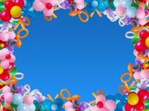 Ballons no céu do fundo Foto de Stock Royalty Free