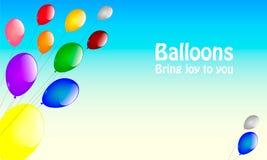 Ballons op een koord Stock Afbeeldingen