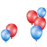 Ballons op een witte achtergrond Royalty-vrije Stock Afbeelding