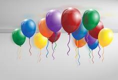 Ballons op het plafond Stock Foto's
