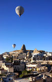 Ballons over Goreme Royalty-vrije Stock Foto