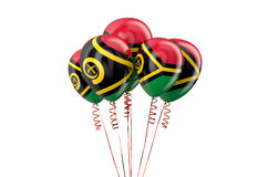 Ballons patriotiques du Vanuatu, concept holyday Photo libre de droits