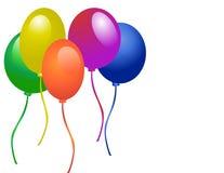 Ballons pour la réception Photographie stock libre de droits