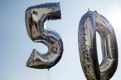Ballons pour un cinquantième Photo libre de droits