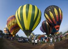 Ballons prêts pour le lancement photos libres de droits