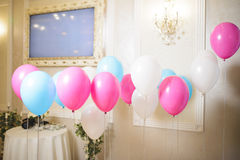 Ballons on Ribbons Royalty Free Stock Image