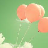 Ballons roses Photo libre de droits