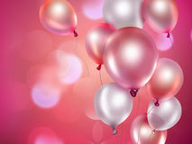 Ballons roses Photo stock