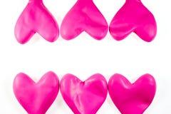 Ballons roses de coeur Image stock