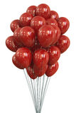 Ballons rouges Photos libres de droits