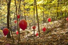 Ballons rouges Photo libre de droits