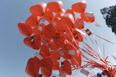 Ballons rouges Photographie stock libre de droits