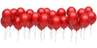 Ballons rouges illustration de vecteur