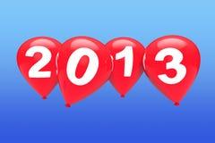 Ballons rouges de Noël Image libre de droits