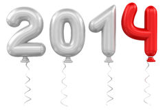 2014 ballons Royalty Free Stock Photo