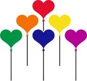 ballons serce kształtował Zdjęcie Royalty Free
