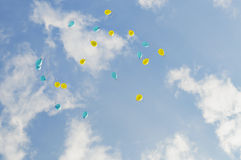 Ballons in the sky Royalty Free Stock Photos