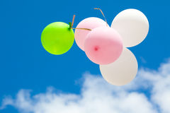 Ballons in sky Royalty Free Stock Image