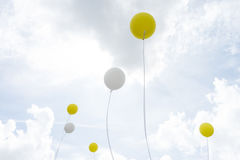 Ballons in the sky Royalty Free Stock Photos