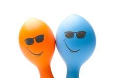 ballons smiley δύο Στοκ φωτογραφίες με δικαίωμα ελεύθερης χρήσης