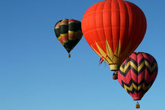 Ballons tijdens de vlucht Royalty-vrije Stock Foto's
