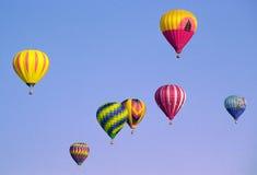 Ballons tijdens de vlucht Stock Foto