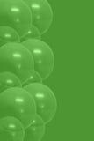 Ballons verts Photo libre de droits