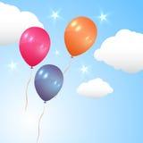 Ballons volant dans le ciel Photo libre de droits