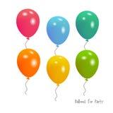 Ballons voor partij Royalty-vrije Stock Fotografie