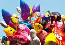 Ballons voor verkoop op Queensdag. Stock Fotografie