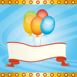 Ballons in the win Royalty Free Stock Images