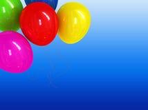 Ballons zu den hollydays Stockbild