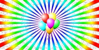 ballonsfärger Arkivfoto