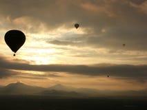 Ballonsonnenaufgang stockbild