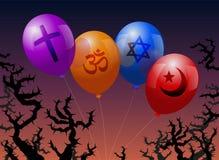 Ballonsreligion Fotografering för Bildbyråer
