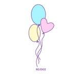 Ballonssymbolstecken 01 Royaltyfria Foton