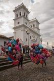 Ballonverkäufer in Giron Kolumbien stockfoto