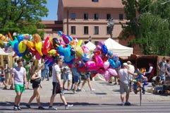 Ballonverkopers royalty-vrije stock afbeelding